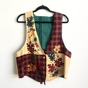 """Jackets & Blazers - Vintage hand made """"ugly"""" fall vest"""